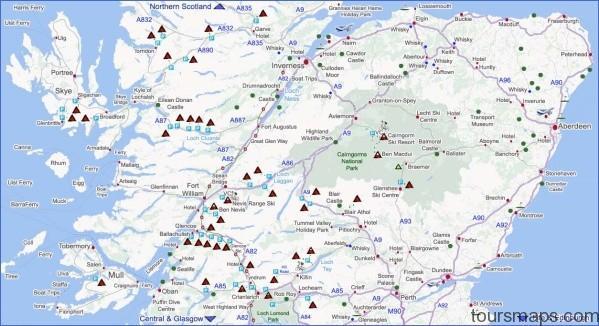 highlands map Map of Gleneagles Scotland