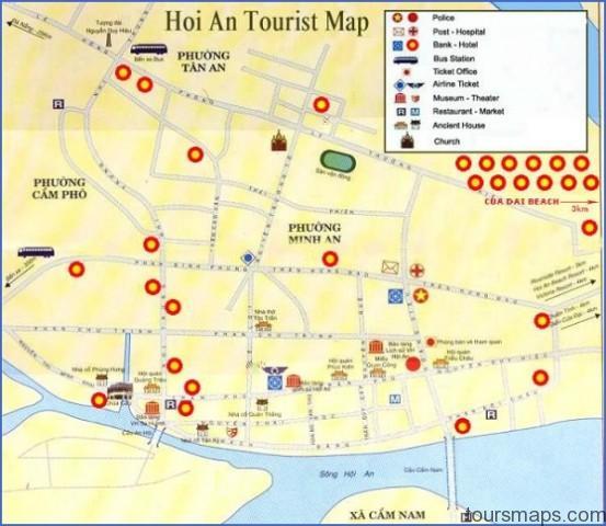 hoi an beach resort agribank hoianmap Map of Hoi An Vietnam