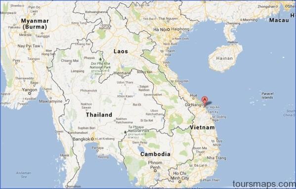 hoi an cua dai vietnam map Map of Hoi An Vietnam