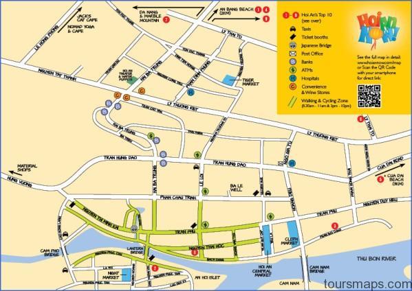 hoian now map small Map of Hoi An Vietnam