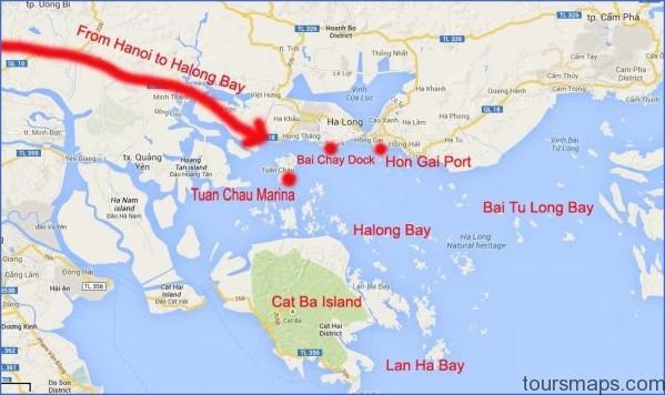 how to choose best halong bay cruise map Map of Halong Bay Vietnam