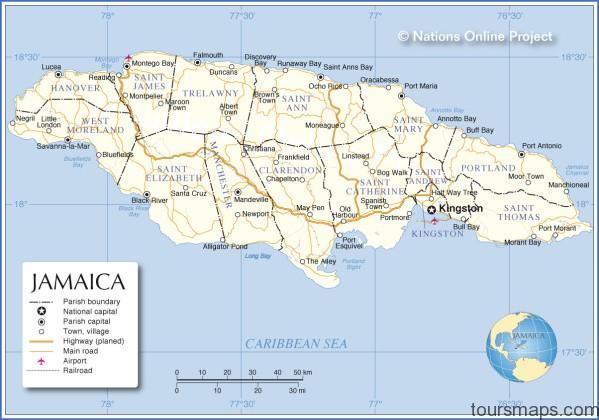 jamaica administrative map Jamaica Map