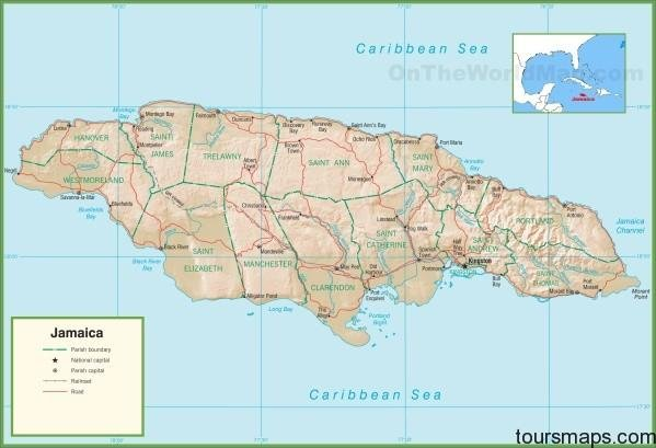 jamaica political map Jamaica Map