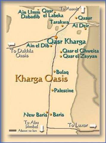 kharga oasis map Map of Oasis