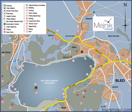 lake bled map 2015 1 Map of Bled Slovenia
