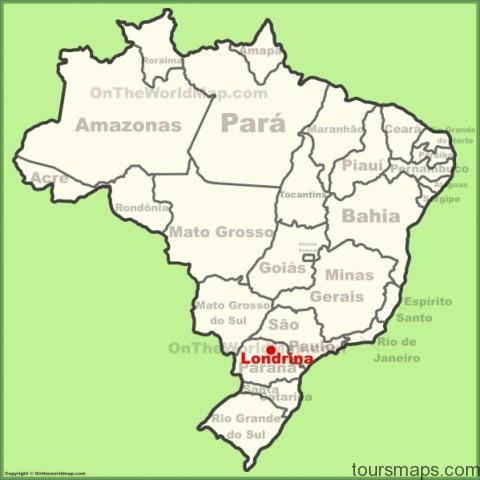 londrina location on the brazil map Sao Paulo Brazil Map