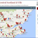 map central scotland fife 150x150 Map of Gleneagles Scotland