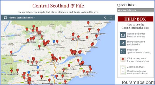 map central scotland fife Map of Gleneagles Scotland