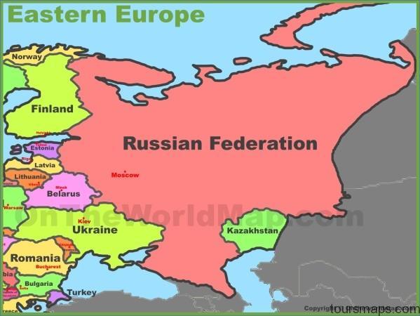 map of eastern europe Map of Eastern Europe