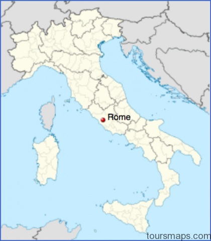 map of rome in italy Map of Rome Italy