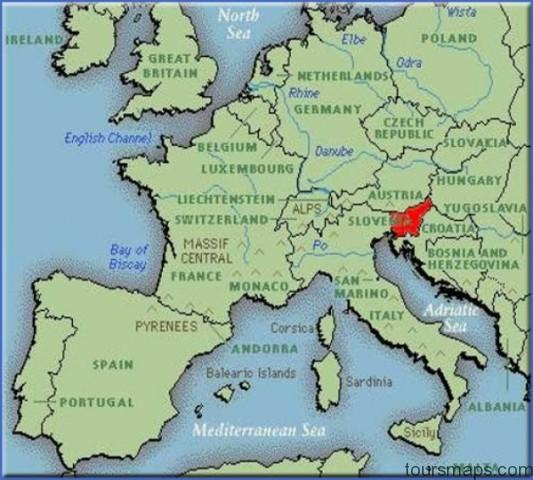 map Map of Bled Slovenia