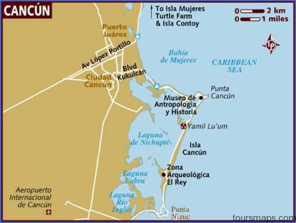 map of cancun Map of Cancun Mexico