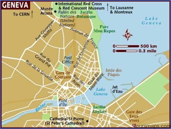 map of geneva Map of SWITZERLAND Geneva