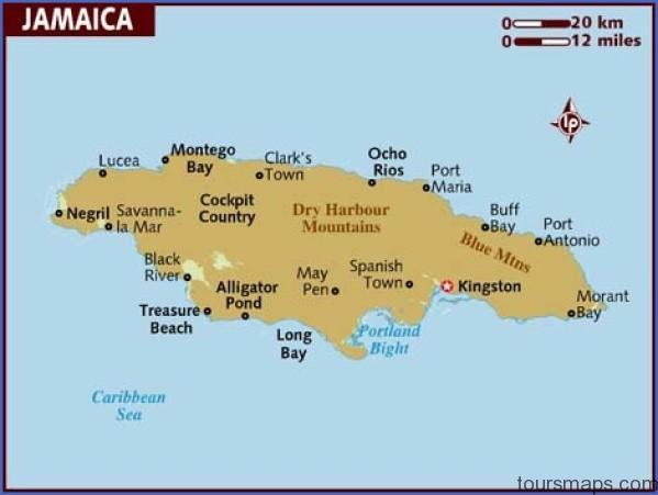 map of jamaica Jamaica Map