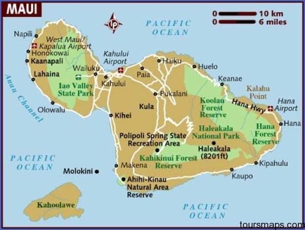 map of maui Map of HAWAII MAUI