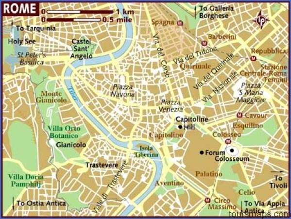 map of rome Map of Rome Italy