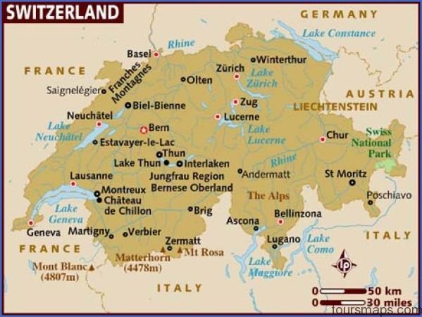 map of switzerland Map of SWITZERLAND Geneva
