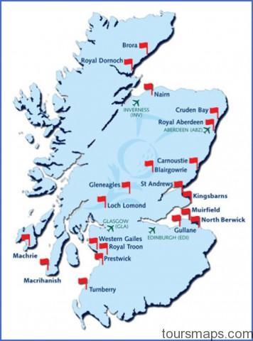 map scotland 98 Map of Gleneagles Scotland