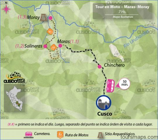 mapa tour cuscomaras y moray Map of Maras Peru