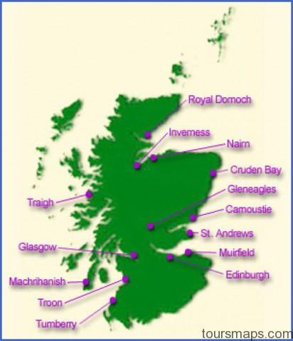 mapgolfcourses Map of Gleneagles Scotland