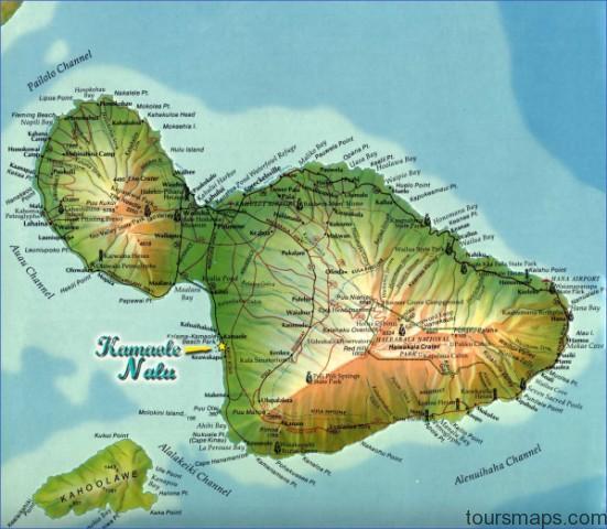 maui island map Map of HAWAII MAUI