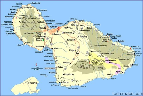 maui Map of HAWAII MAUI