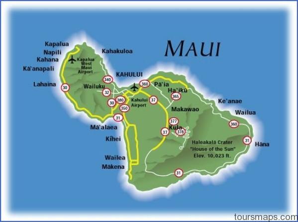 maui map Map of HAWAII MAUI