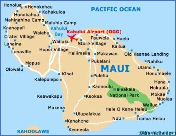 maui map island Map of HAWAII MAUI