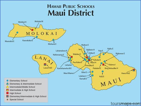 mauimap Map of HAWAII MAUI