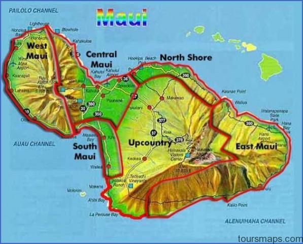 mauimap1 Map of HAWAII MAUI