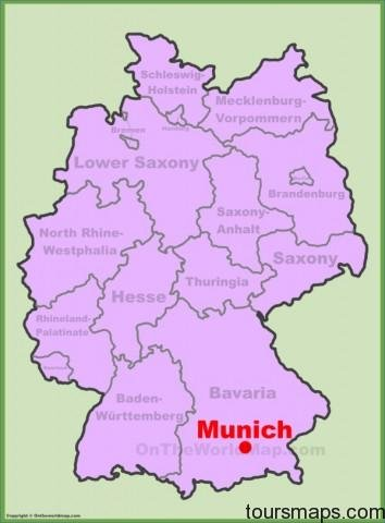 munich location on the germany map Map of Munich Germany