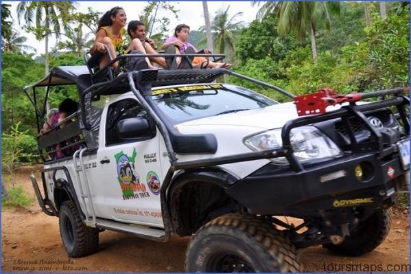 namuang safari park 4x4 off road mountain tour OFF ROAD RACES Koh Samui Thailand
