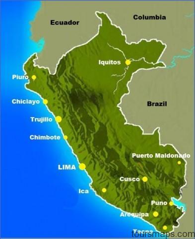 peru city map1 Map of Cusco Peru