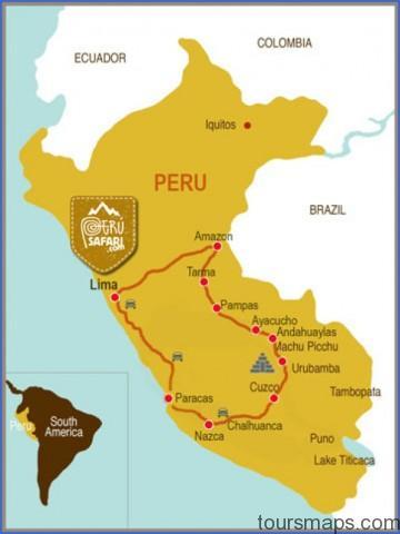 peru map Map of Maras Peru