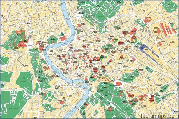 rome attractions map Map of Rome Italy