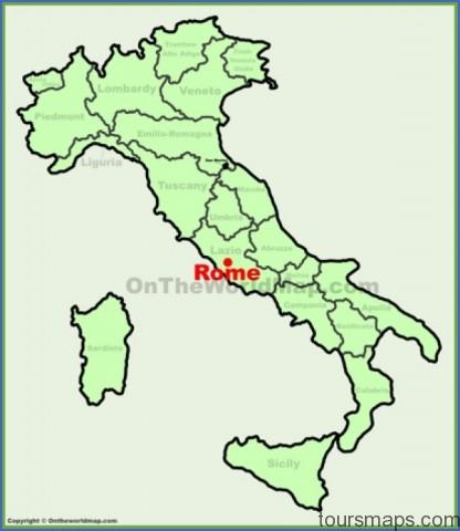 rome location on the italy map min Map of Rome Italy