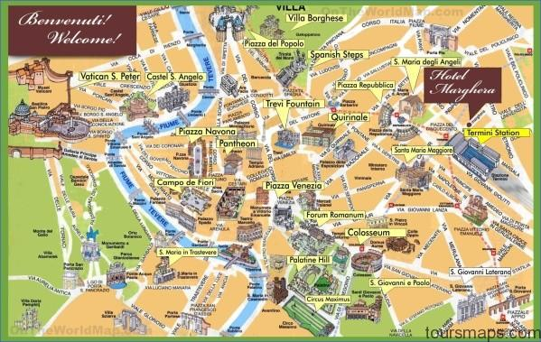 rome sightseeing map Map of Rome Italy