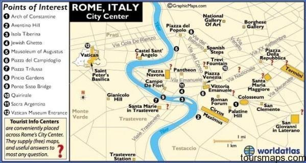 romemap Map of Rome Italy