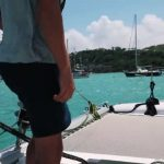 sailing a catamaran in the caribbean with slv 22