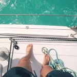 sailing a catamaran in the caribbean with slv 35