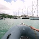 sailing a catamaran in the caribbean with slv 60