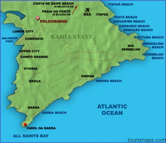salvador map Map of Salvador Brazil