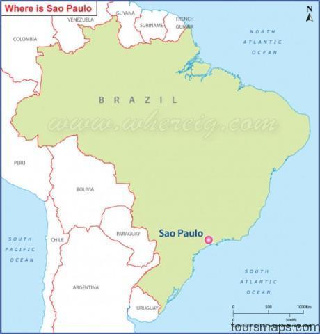 sao paulo location map Sao Paulo Brazil Map