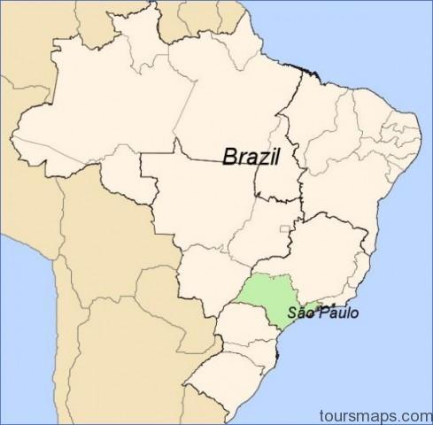 sc3a3o paulo on brazil map Sao Paulo Brazil Map