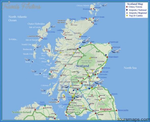 scotland map Map of Gleneagles Scotland