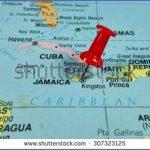 stock photo pushpin marking on jamaica map 307323125 150x150 Jamaica Map