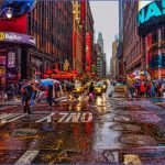 times square in the rain 150x150 A DAY in NEW YORK