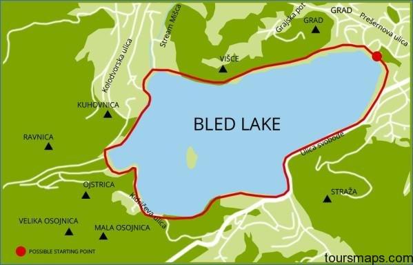 travel slovenia walking path around bled lake Map of Bled Slovenia