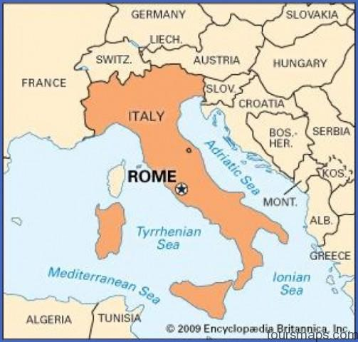 Map of Rome Italy   ToursMaps.®