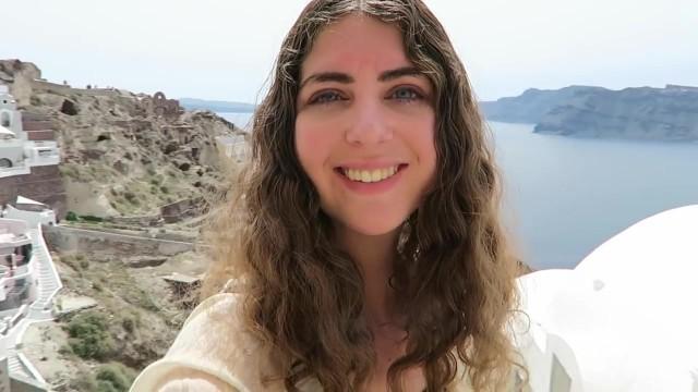 blue doors in oia santorini 14 How to Travel in Santorini